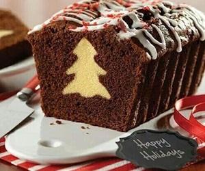 christmas, cake, and chocolate image