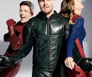 arrow, Supergirl, and oliver queen image