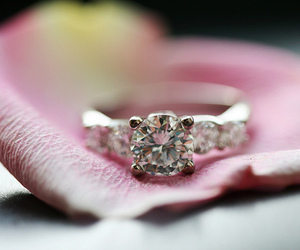 diamond, ring, and pink image