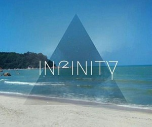 background, beach, and infinity image