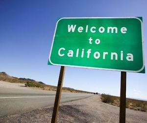 california, road, and welcome image