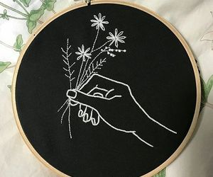 diy, minimalism, and embroidery image