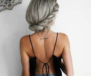 dress, fashion, and hairstyle image