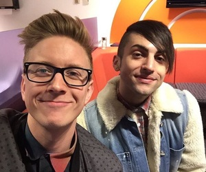 tyler oakley, pentatonix, and mitch grassi image