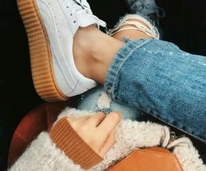 fashion, jeans, and puma image