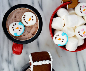 preppy, winter, and hot chocolate image
