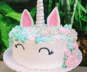 cake, unicorn, and case image