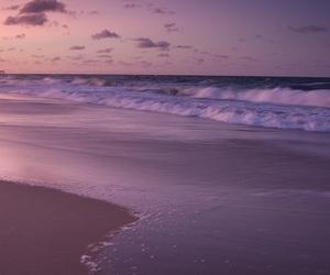 beach, sunset, and purple image