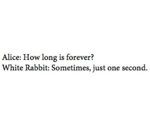 forever, alice in wonderland, and quote image