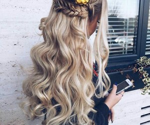 hair, girl, and beauty image