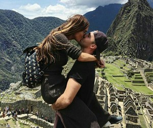 kiss, couple, and travel image