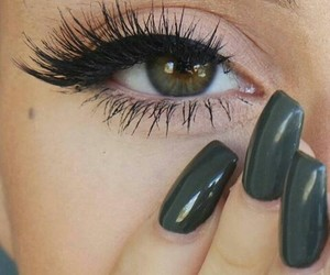 eyelashes, eyes, and green image