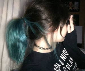 blue, girl, and grunge image