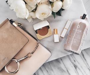 fashion, bag, and makeup image