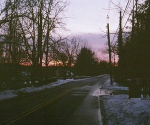 photography, road, and snow image