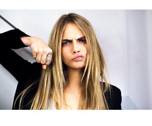 beauty, blonde hair, and cara image