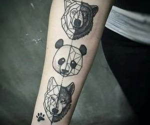 tattoo, animal, and panda image