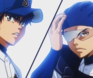 ace of diamond, miyuki kazuya, and sawamura eijun image
