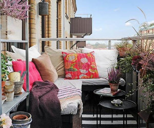 balcony, cool, and winter image