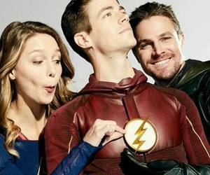 arrow, heroes, and Supergirl image