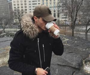 boy, guy, and coffe image