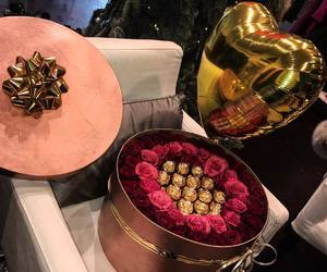 flowers, luxury, and chocolate image