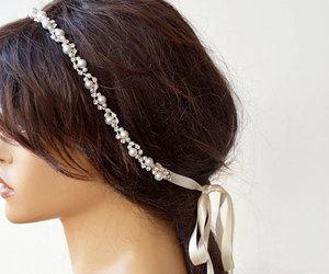 etsy, bridal headpiece, and bridal headband image