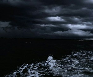 sea, black, and dark image