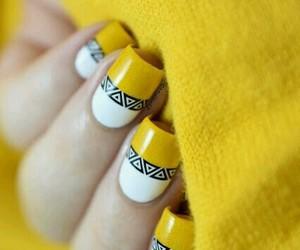 nails, yellow, and art image