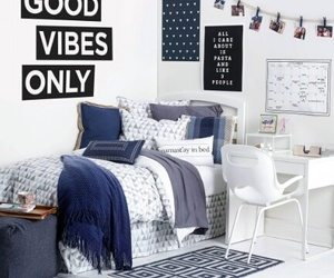 room, bedroom, and good vibes only image