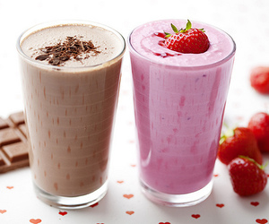 chocolate, strawberry, and drink image