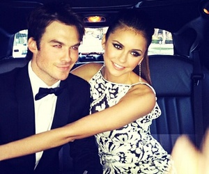 Nina Dobrev, ian somerhalder, and couple image