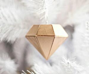 christmas, diamond, and gold image