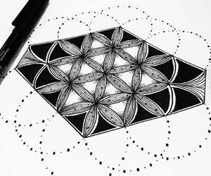 sacred geometry, tattoo, and flower of life image