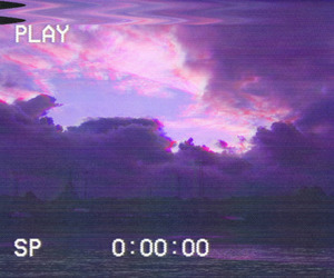 aesthetic, purple, and glitch image