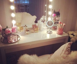 room, vanity, and make up image