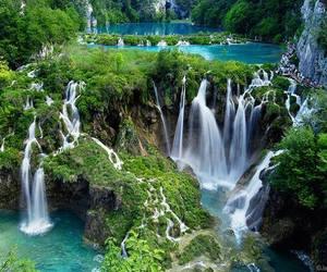 waterfall, nature, and Croatia image