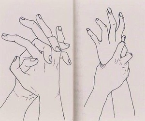art, hands, and drawing image