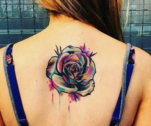 colores, rosa, and tattoo image