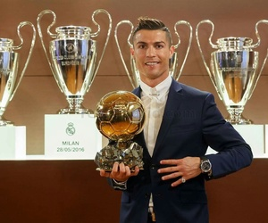 cristiano ronaldo, real madrid, and ballon d'or image