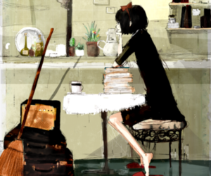 girl, drawing, and kiki's delivery service image