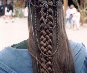 hair, braid, and medieval image