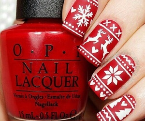 nail, red, and happynewyear image