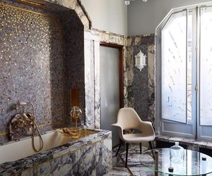 design, bathroom, and marble image