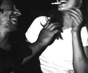 couple, cigarette, and smoke image