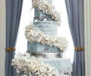 cake, wedding, and beautiful image