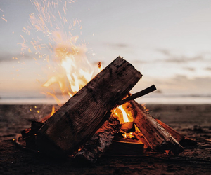 fire, nature, and ocean image