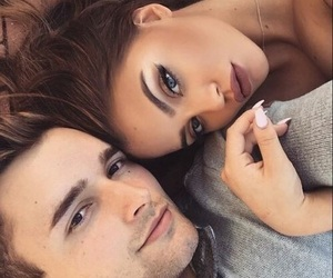 brunette, pretty, and Relationship image