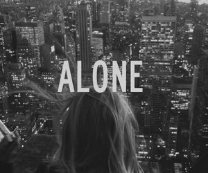 alone, city, and black and white image