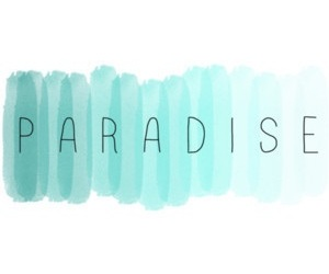 paradise and blue image